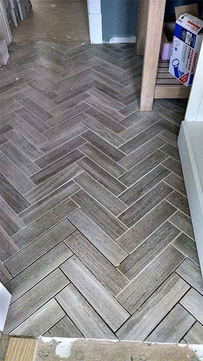Ns herringbone tile
